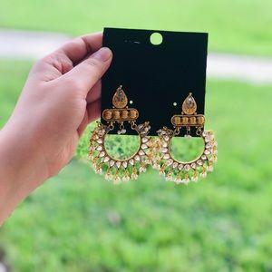 Gold & Pearl Indian earrings